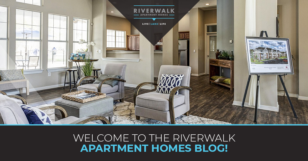 """Welcome to the Riverwalk Apartment Blog"" blog banner."