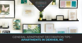 """General apartment decoration tips"" blog banner."