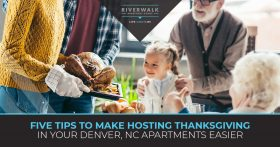 """Five tips to make hosting thanksgiving in your Denver apartments easier."" blog topic."