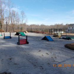 Another view of the dog park at Riverwalk Apartments