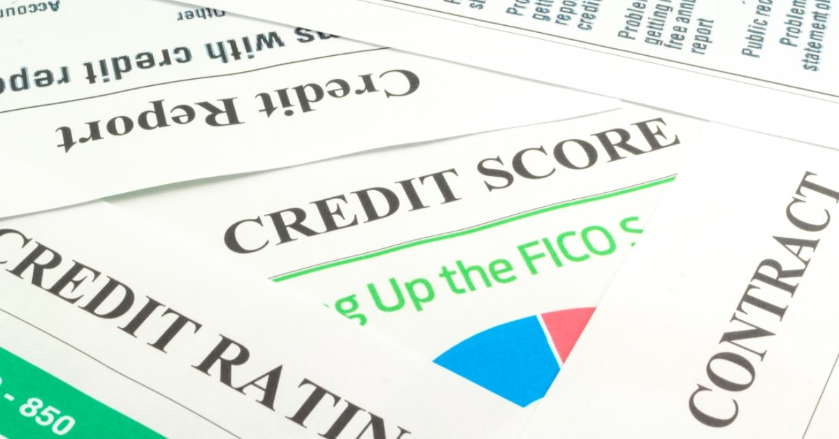 A newspaper talking about credit scores.