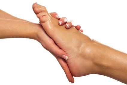 Fußmassage in Reflexzonen