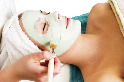 facial mask at spa