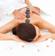 photo of hot stone spa massage