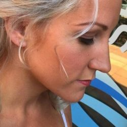 Closeup of a bride with finished hair and makeup - Riverspointe Spa