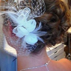 Bride with finished updo - Riverspointe Spa
