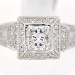 Our engagement rings can be set with pristine diamonds!