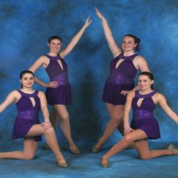 Four dancers from Robert Mann Dance Center who excel in their dance classes!