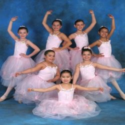 Our littlest ballerinas who showed lots of talent during ballet classes at Robert Mann Dance Centre