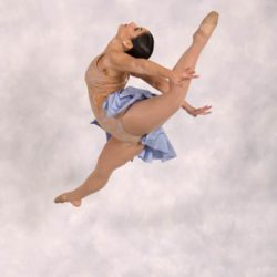 A skill performed by Robert Mann Dance Centre dancer