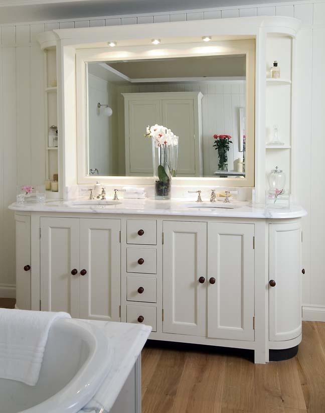 """Dual sink vanity in the bathroom for blog """"Bathroom Vanities"""""""