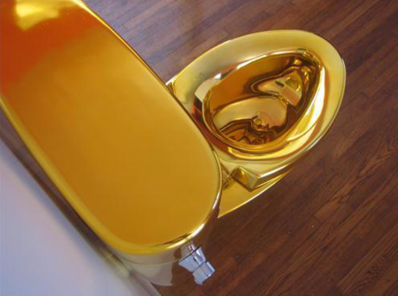 "Golden toilet for blog ""What Kind of Toilet Should I Buy?"""
