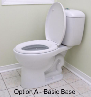 Basic base, white porcelain toilet
