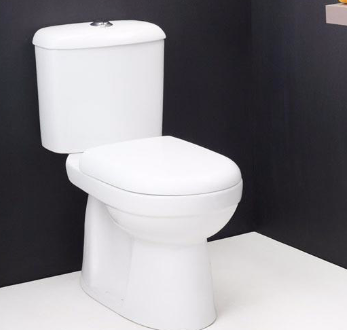 one-piece white porcelain toilet