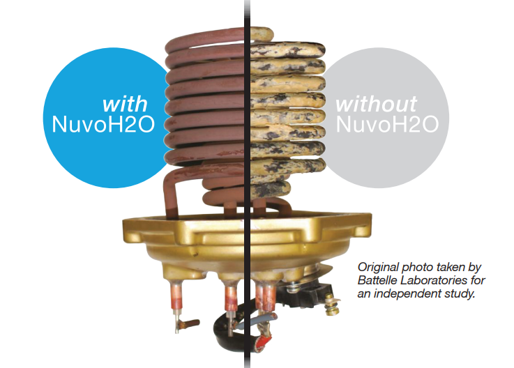 comparing internal parts of water heater with nuvoh2O and without nuvoh2O