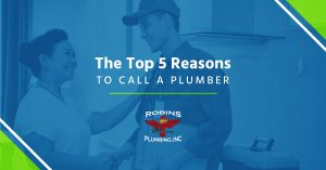 "Cover photo for blog ""The Top Five Reasons to Call a Plumber"""