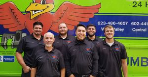 The technician team from Robins Plumbing