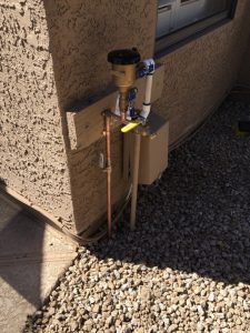 Corrected outdoor plumbing issue that previously violated code