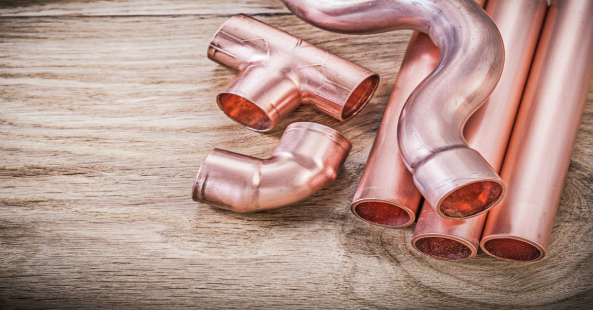 """A collection of copper pipe pieces as a cover photo for blog """"Plumbing Myths Busted Part 3"""""""