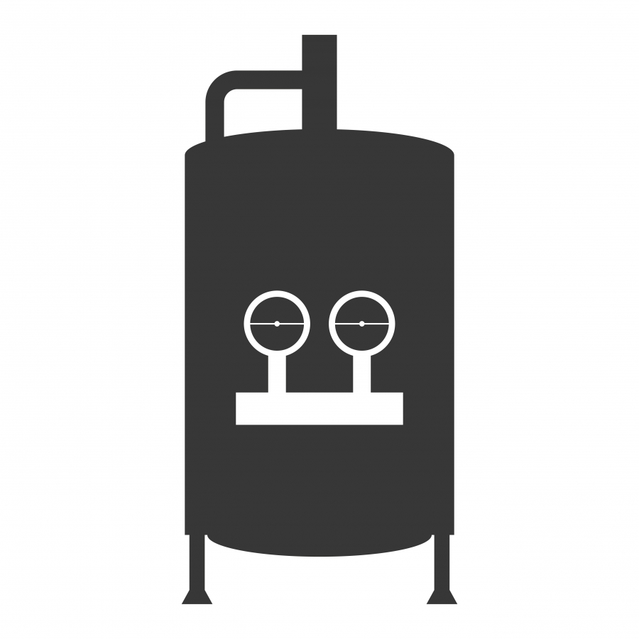 Stylized profile of a hot water heater