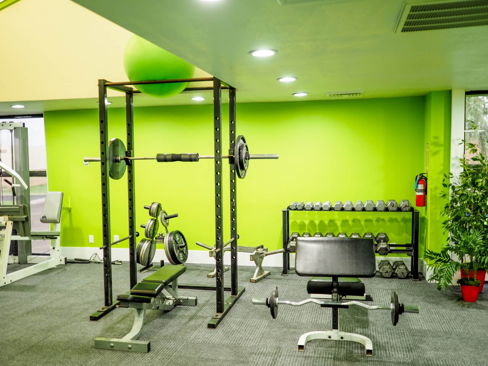 Image of the upstairs gym