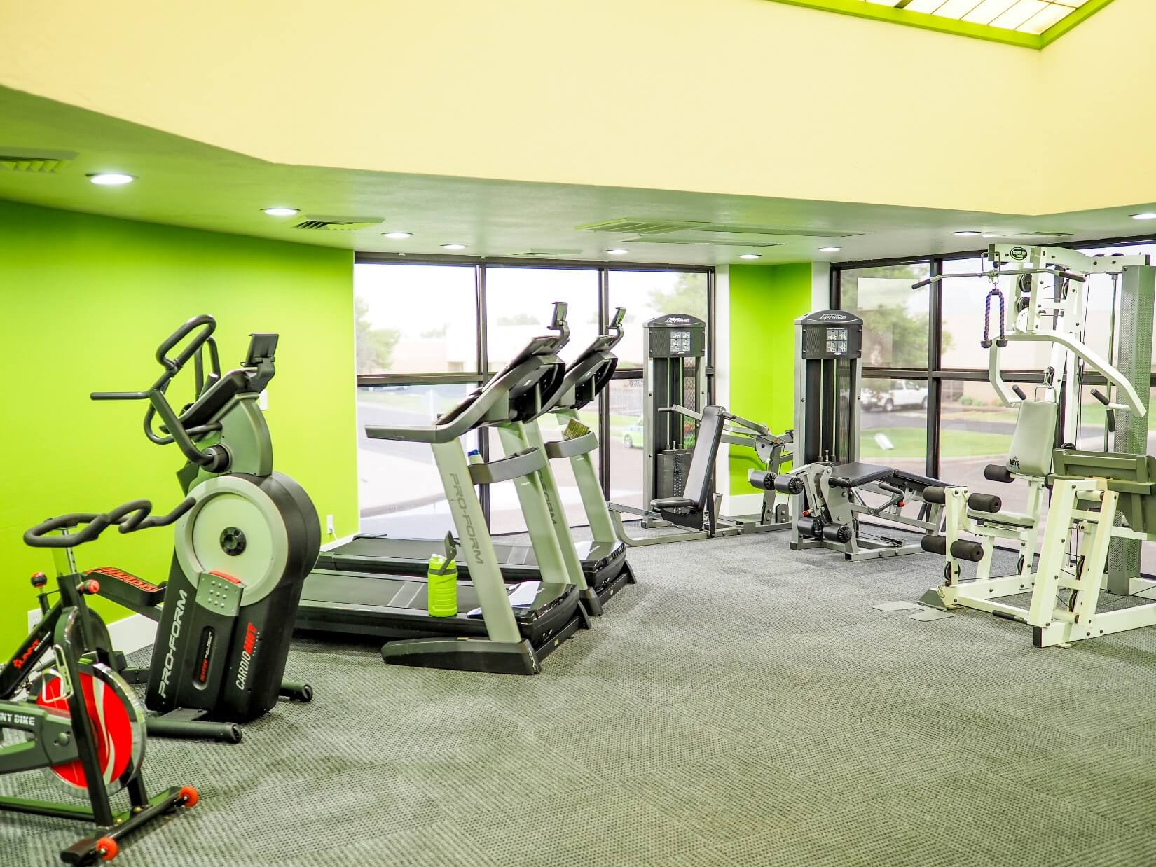 Another image of equipment in the gym upstairs