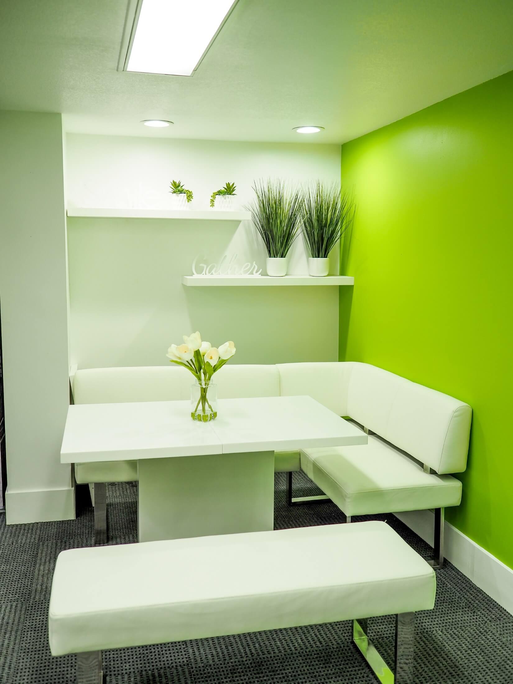 Nook corner in the rec room upstairs