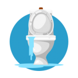 Graphic of toilet flooding