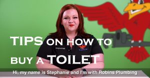 "Cover photo for blog and video ""Tips on How to Buy a Toilet"""