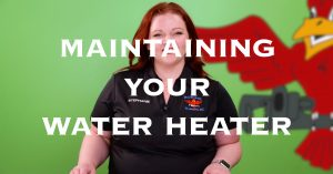 "Cover photo for blog and video ""Maintaining Your Water Heater"""