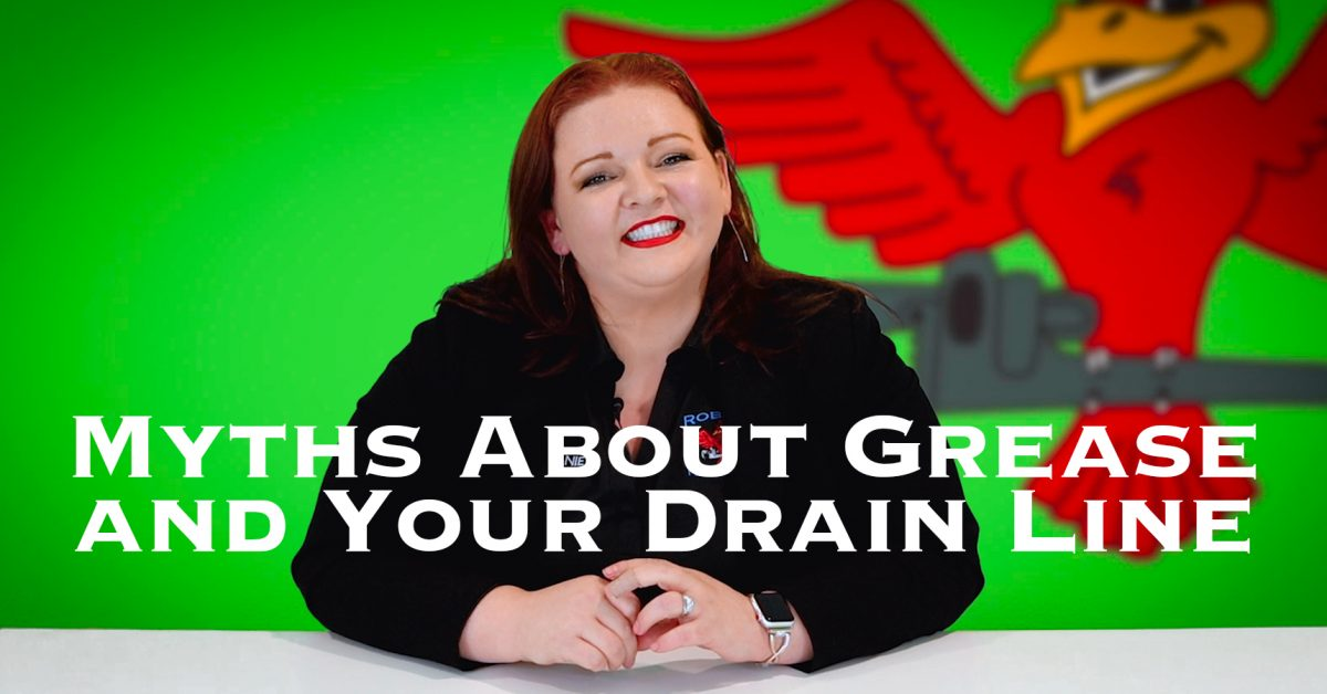 """Cover photo for blog and video """"Myths About Grease and Your Drain Line"""""""