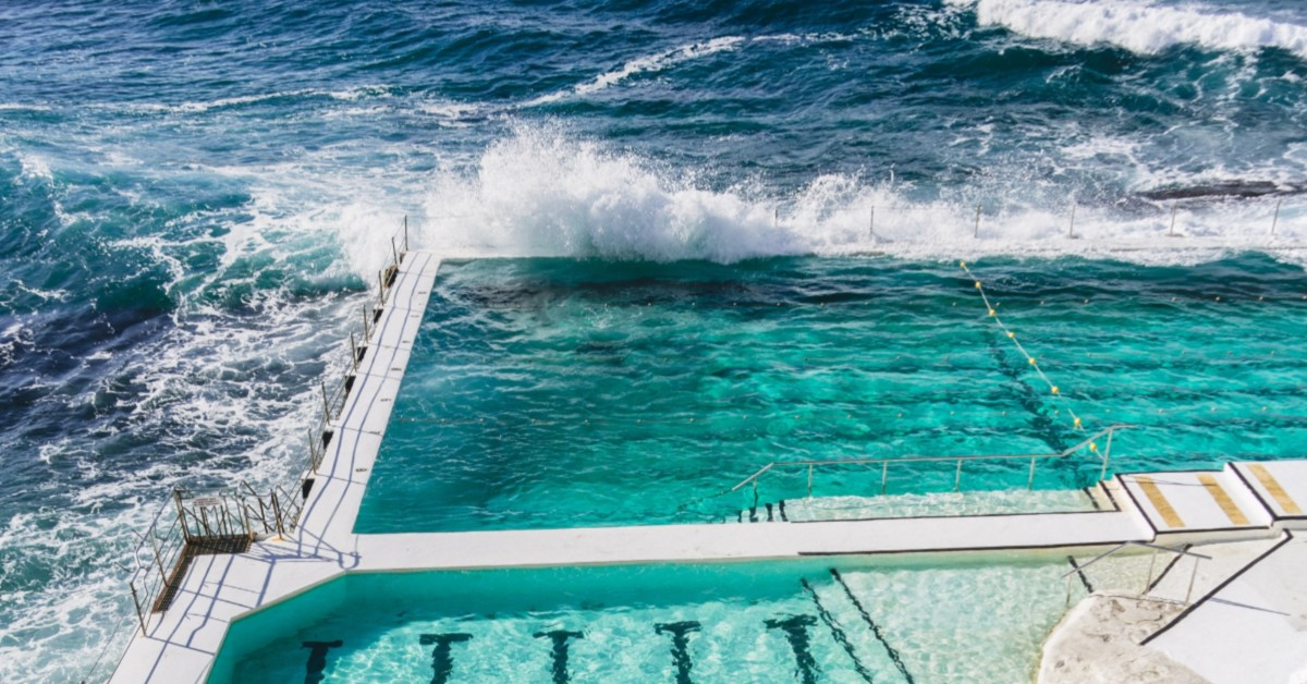 a saltwater pool