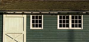 Old Shingles on Green Barn