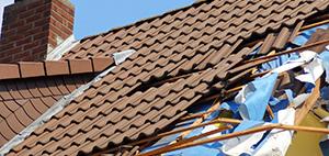Wind-Damaged Roof