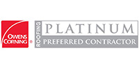 Owens Corning® Platinum Preferred Contractor Logo