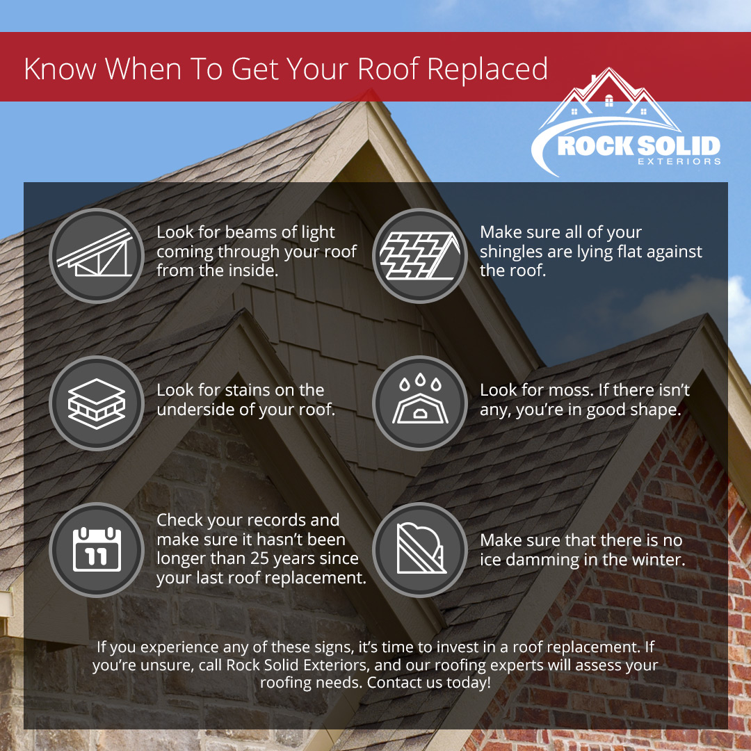 When to Replace Your Roof Infographic