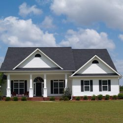 Rural Home With New Black Shingles