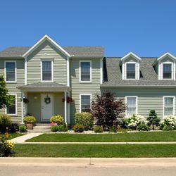 Suburban Home With New Shingles