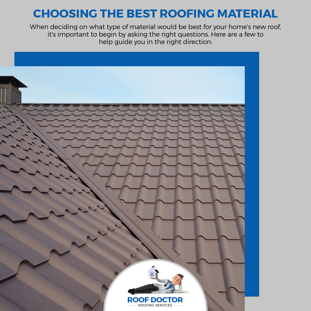 How To Choose The Right Roofing Material Infographic 1