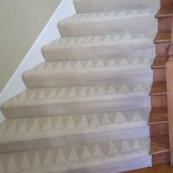 carpet cleaning demonstrated on long curved stairs