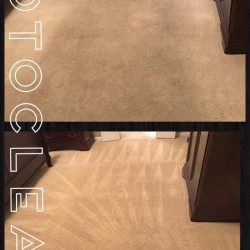 Roto Clean Memphis' before and after carpet cleaning