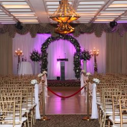 A wedding hall at Royal Palace Ballrooms