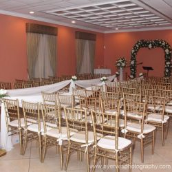 A wedding event venue at Royal Palace Ballrooms