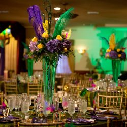 Mardi Gras themed event at Royal Palace Ballrooms