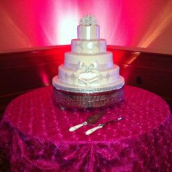 A beautifully decorated cake at an event at Royal Palace Ballrooms