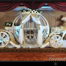 Cinderella carriage at a birthday party at Royal Palace Ballrooms