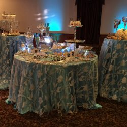 The dessert table at a birthday party at Royal Palace Ballrooms
