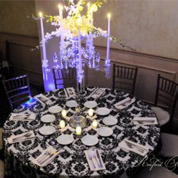 Intricate table cloth at Royal Palace Ballrooms venue