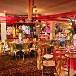 Mardi Gras themed birthday party at Royal Palace Ballrooms