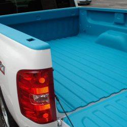 Blue LINE-X bed liner